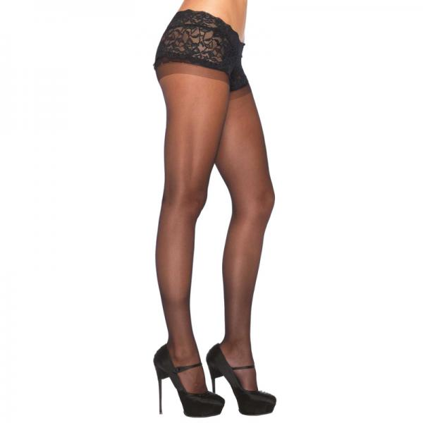 Leg Avenue Sheer Boyshort Pantyhose UK 8...