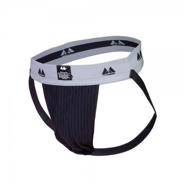 Bike Jockstrap Black with 2 Inch Waistba...
