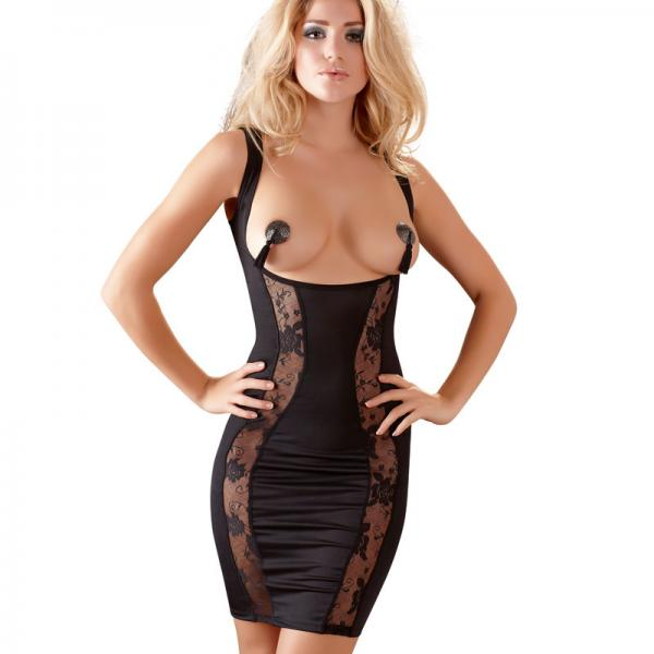 Cottelli Collection Mini Dress With Open...