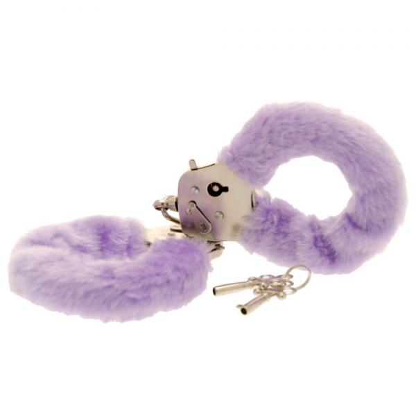 Toy Joy Furry Fun Hand Cuffs Purple Plus...