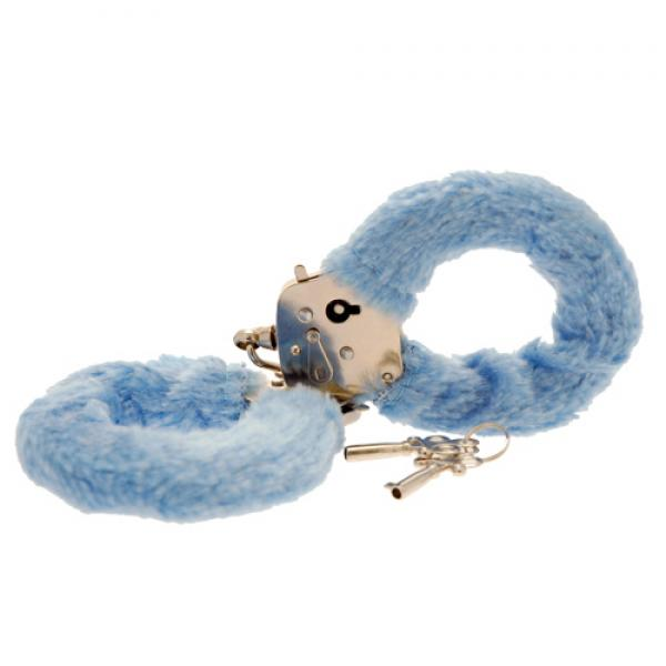 Toy Joy Furry Fun Hand Cuffs Pale Blue P...