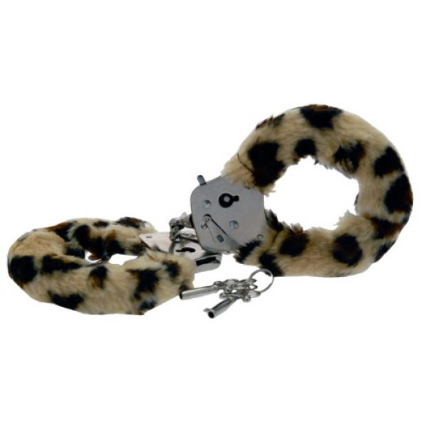 Toy Joy Furry Fun Hand Cuffs Leopard Plu...