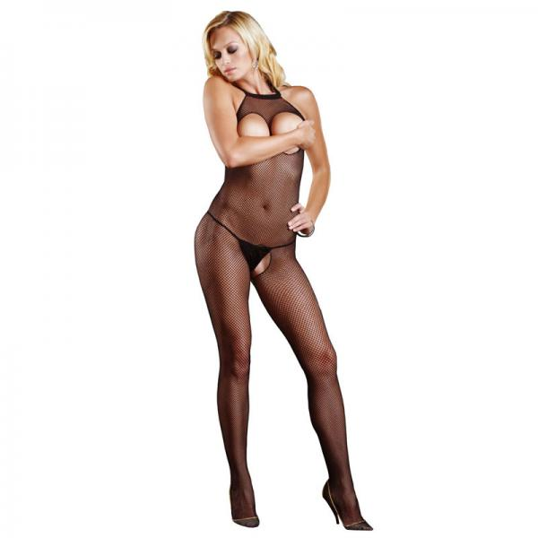 Leg Avenue Open Crotch And Bust Fishnet ...
