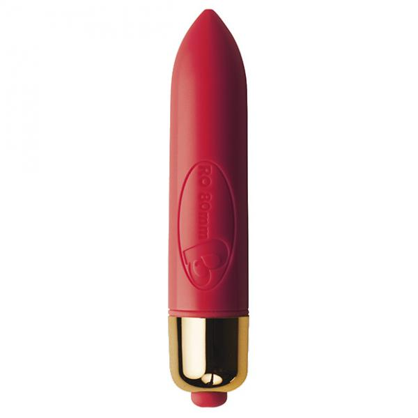RO80mm 7 Function Bullet Vibrator Red