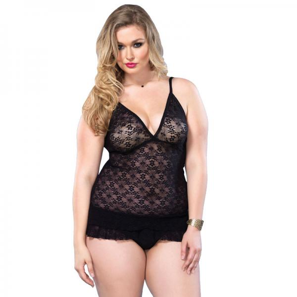 Leg Avenue Lace DeepV Halter Teddy UK 16...