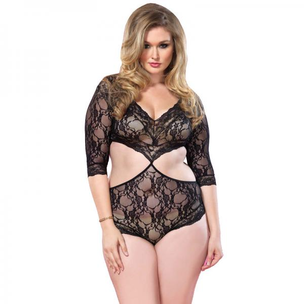 Leg Avenue Cut Out Floral Lace Teddy UK ...