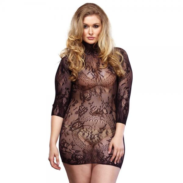 Leg Avenue Floral Lace Mini Dress UK 16 ...