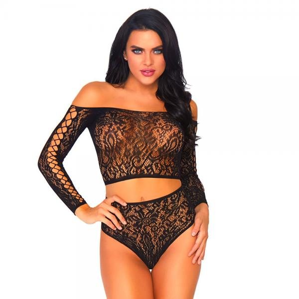 Leg Avenue 2 Piece Lace Top And Thong On...