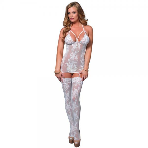 Leg Avenue Lace Suspender Bodystocking U...