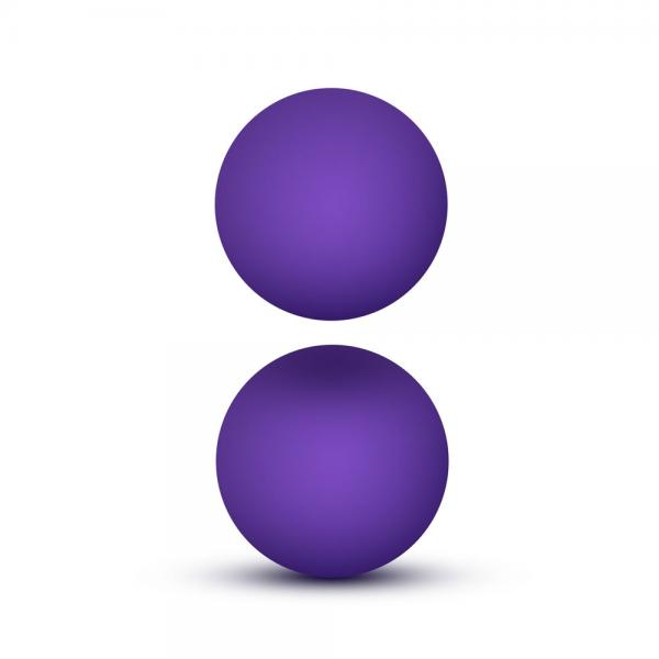 Luxe Purple Double O Kegel Balls Weighte...