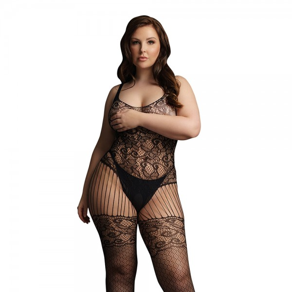 Le Desir Lace and Fishnet Bodystocking U...