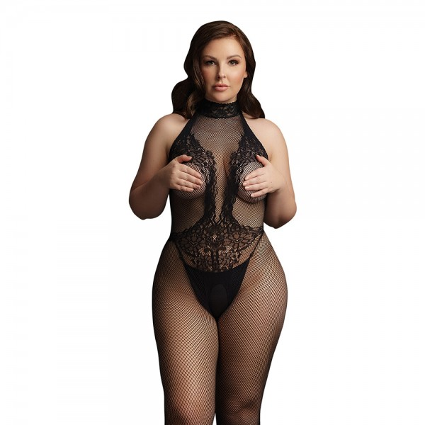 Le Desir Fishnet And Lace Bodystocking U...