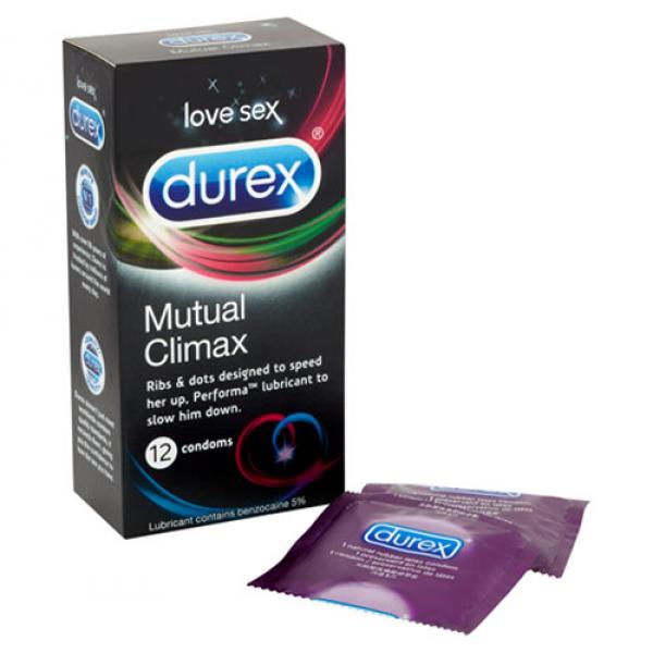 Durex Mutual Climax 12 Pack Condoms