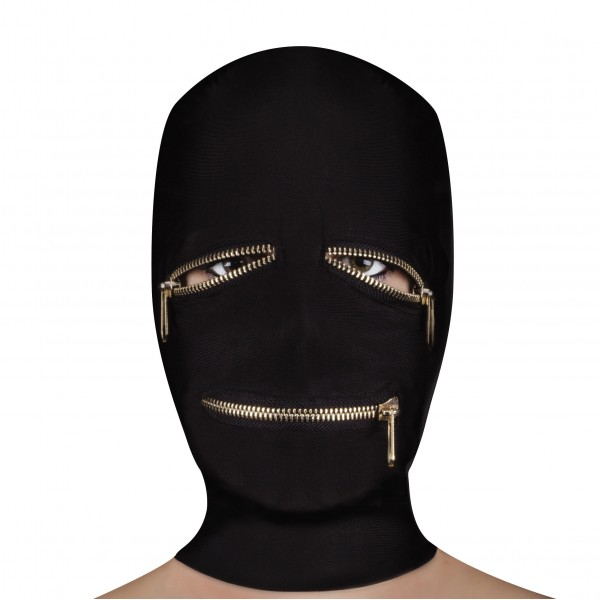 Ouch Extreme Zipper Mask With Eye And Mo...