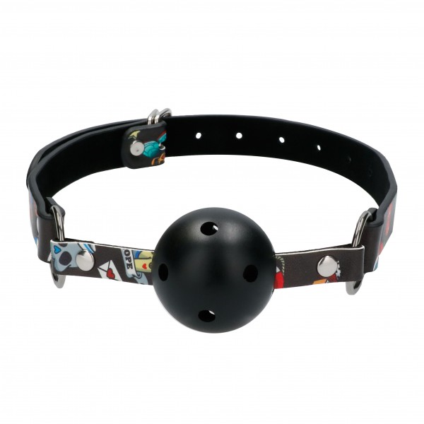 Ouch Breathable Ball Gag With Printed Le...