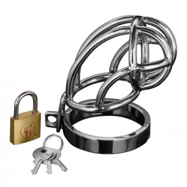 Captus Stainless Steel Locking Chastity ...