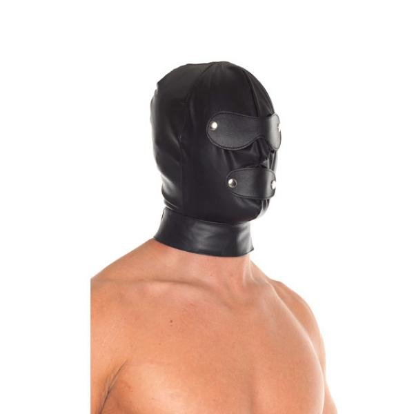Leather Full Face Mask With Detachable B...